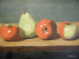 Apples and Pear, 8x10