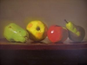 Apples and Pears, 12x16