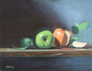 Apples and slice, 12x16