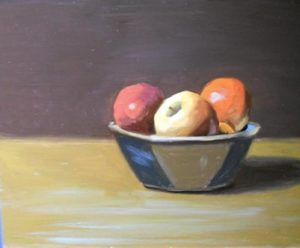Apples on Table, 16x20