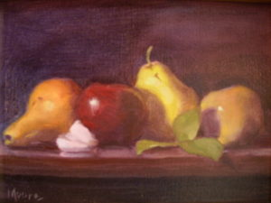 Apples Pears 1 Diptych, 11x14