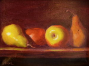 Apples Pears 2 Diptych, 11x14