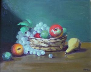 Basket with Fruit, 16x20