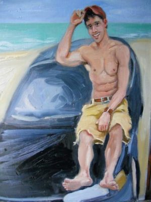 Beach Bum, 24x18
