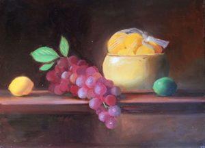 Bowl of Lemons, 12x16