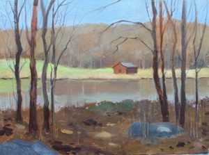 Early Spring at Silvermine, 11x14