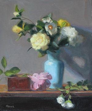 Floral In Blue Vase, 24x20