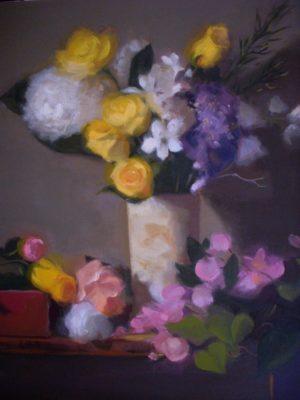 Floral in Stone Vase, 24x20