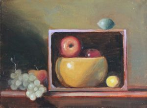 Fruit Bowl in Crate, 12x16
