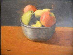 Fruit Bowl on Table, 11x14