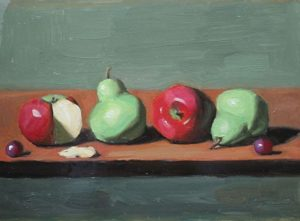 Fruit Row with two grapes, 12x16