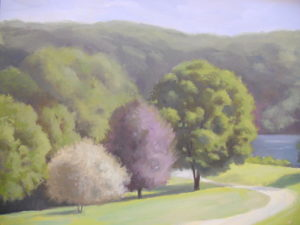 Glynwood Trees and Pond, 22x28