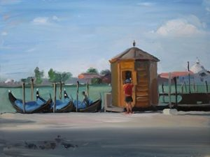 Gondola Stand, Venice, 12x16