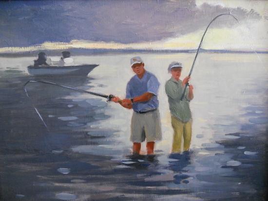 Gone Fishing, 20x24