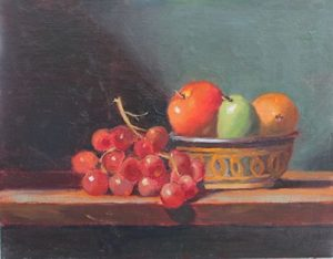 Grapes and African Fruit Bowl, 11x14