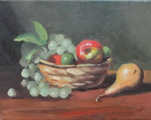 Grapes, Apple and Pear, 8x10