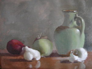 Green Jug with Vegetables, 11x14