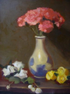 Pink Carnations II, 14x11