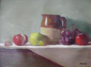 Pitcher with Fruit, 11x14