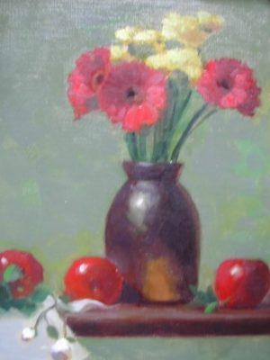 Red Gerber Daisies, 14x11