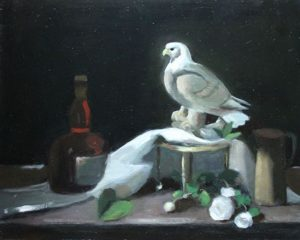 Still life with Ceramic Eagle, 16x20