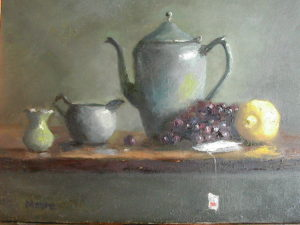 Tea Pot with Lemon, 14x18