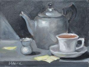 Tea with sugars, 9x12