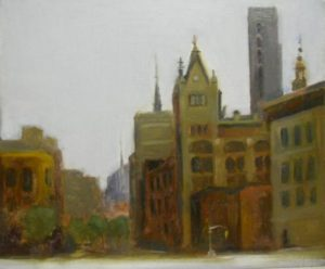 Uptown from Union Square, 14x11