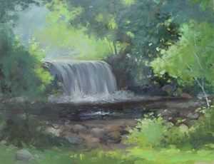 Waterfall, Ringwood Manor, 14x18