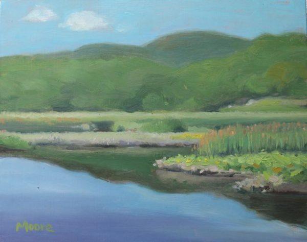 Wetlands at Iona Island, 10x8