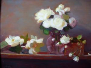 White Roses in Glass Pitcherr, 16x20