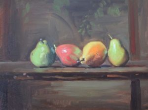 Fall Pears in a Row