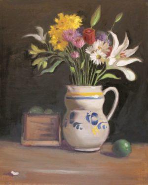Gorkie Pitcher and Flowers