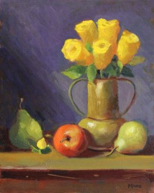 Yellow Roses with Fruit